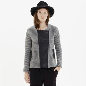 Madewell   Leather & Wool Moto Jacket